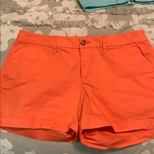 Old Navy Women's Size 6 Coral Chino Shorts